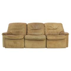 1970s De Sede Leather Sofa