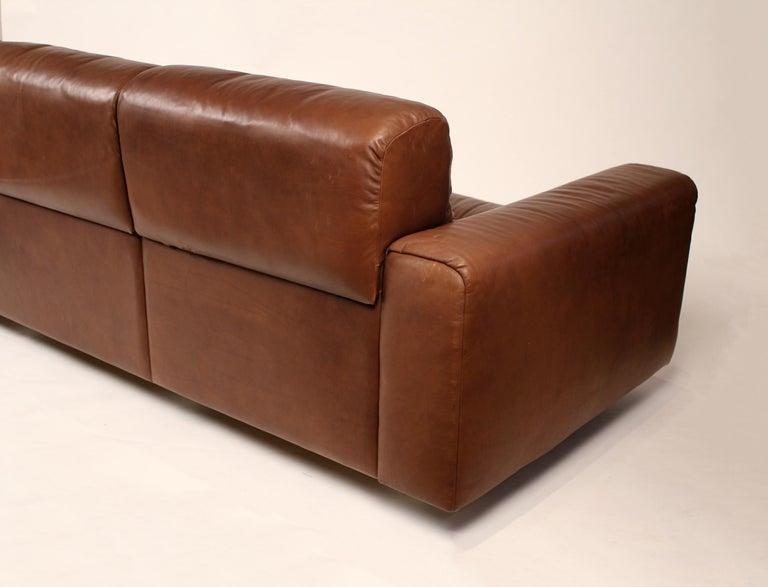 20th Century 1970s De Sede Reclining Sofa in Buffalo Hide Leather For Sale