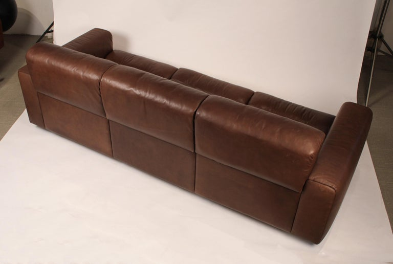 1970s De Sede Reclining Sofa in Buffalo Hide Leather For Sale 1
