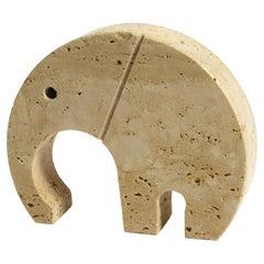 1970s Decorative Large Travertine Elephant Sculpture by Fratelli Mannelli