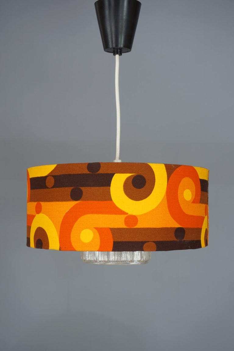 Fabric 1970s Design Chandelier For Sale