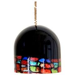 1970s vintage Murano Glass Lampshade, Noti Massari Designer for Leucos