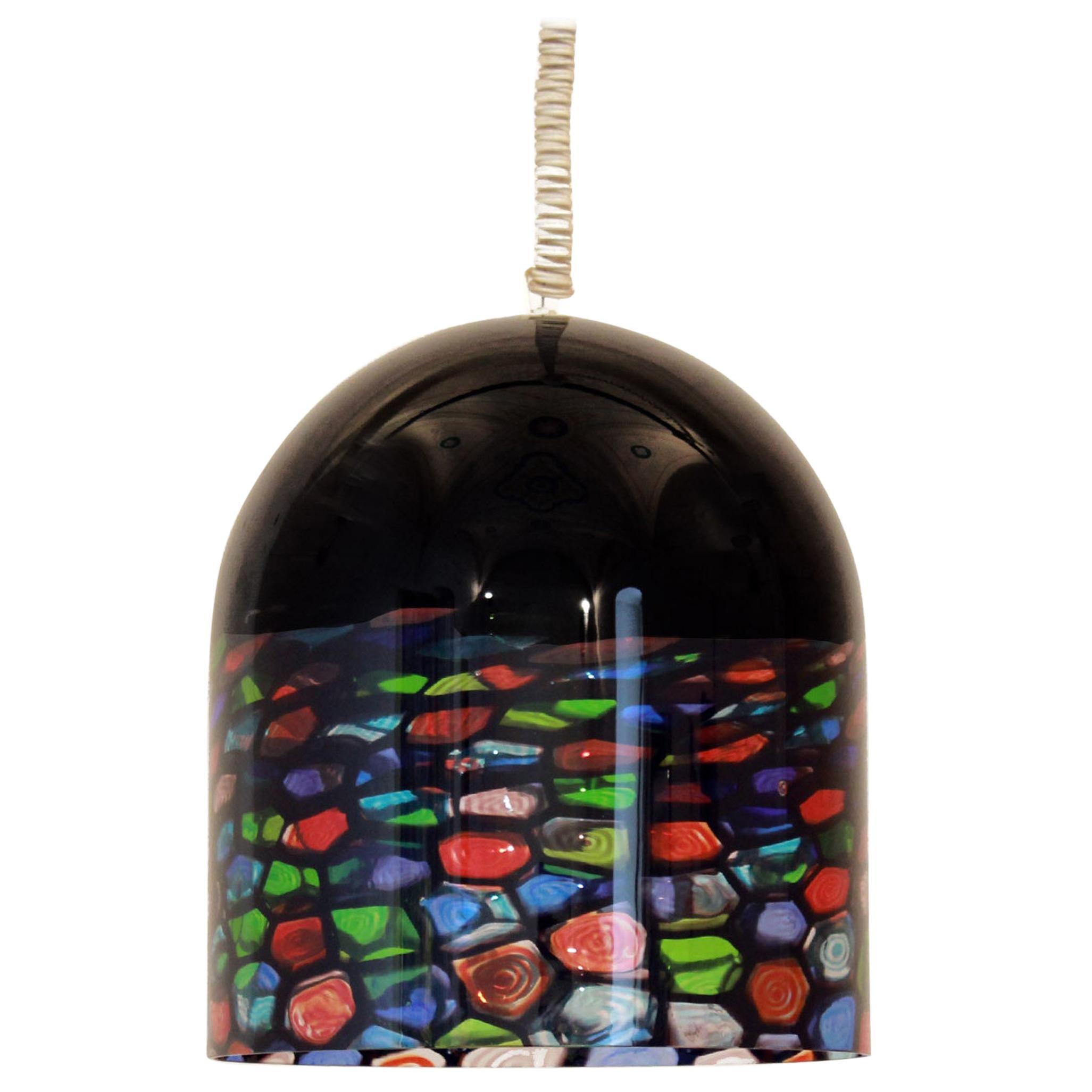 1970s vintage Murano Glass pendant, Noti Massari Designer for Leucos