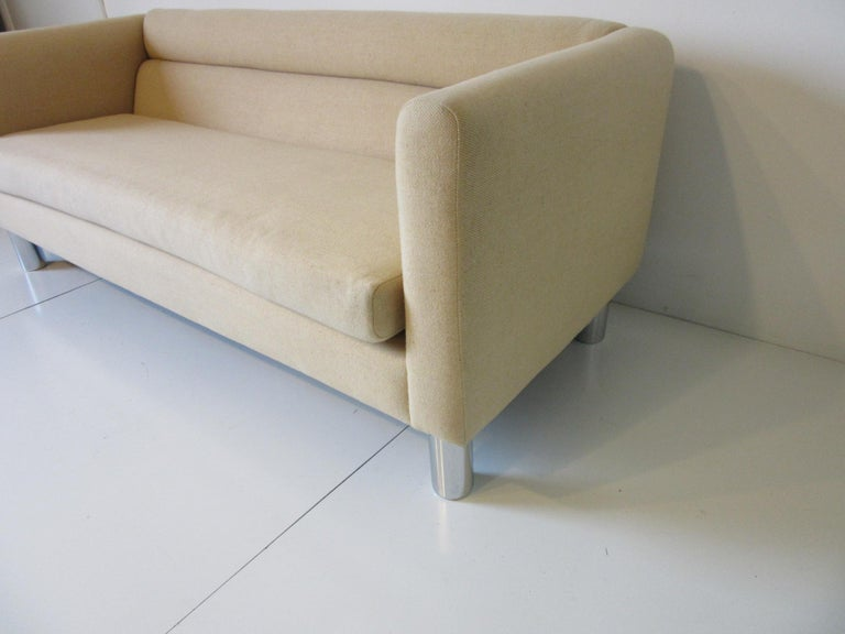 Modern 1970s Designer Sofa or Loveseat by David Edward For Sale