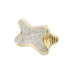 1970s Diamond 18 Karat Yellow Gold Design Ring