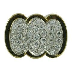 1970s Diamond 18 Karat Yellow Gold Ring