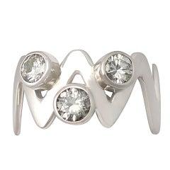 1970s Diamond and Platinum Cocktail Ring