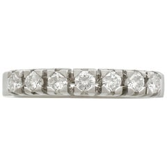 1970s Diamond and White Gold Half Eternity Ring