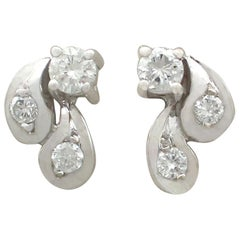 1970s Diamond and White Gold Stud Earrings