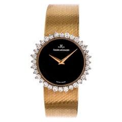 1970s Diamond Bezel Ladies 18 Karat Jaeger LeCoultre Watch