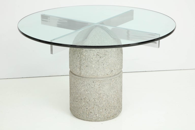 Mid-Century Modern 1970s Dining Table Designed by Giovanni Offredi for Saporiti For Sale