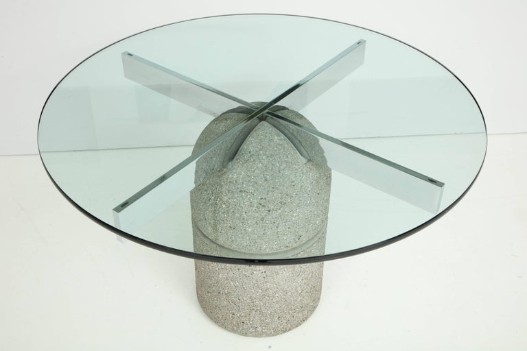 Glass 1970s Dining Table Designed by Giovanni Offredi for Saporiti For Sale