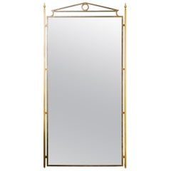 1970s Directoire Brass and Iron Pier Mirror