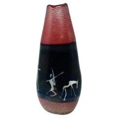 1970s 'Don Quixote' Glass Vase by Cenedese, Murano