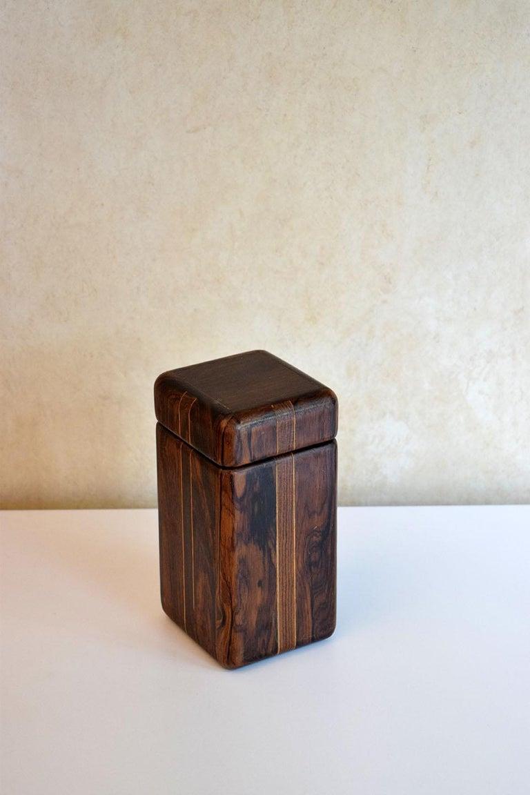 Hardwood 1970s Don Shoemaker Complete Desk Set Perfect Condition For Sale