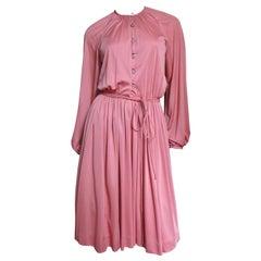 1970s Donald Brooks Button Front Dress