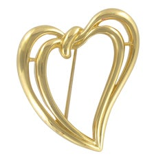 1970s Double Heart Trifari Brooch