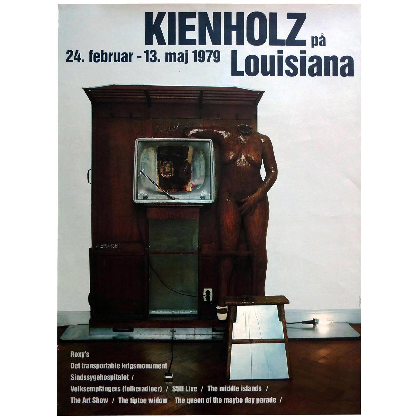 1970s Edward Kienholz Exhibition Poster Pop Art Sculpture