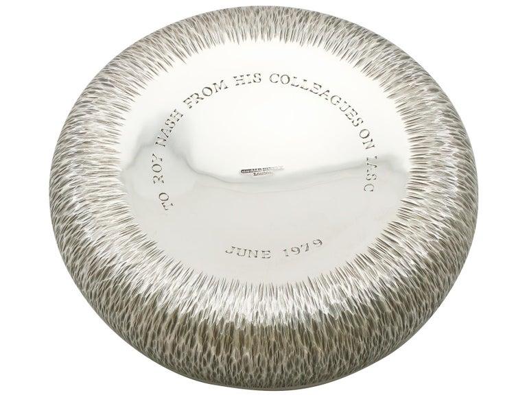1970s Elizabeth II English Sterling Silver Coasters For Sale 1