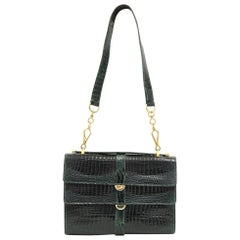 1970s Emerald Green Crocodile Leather Purse