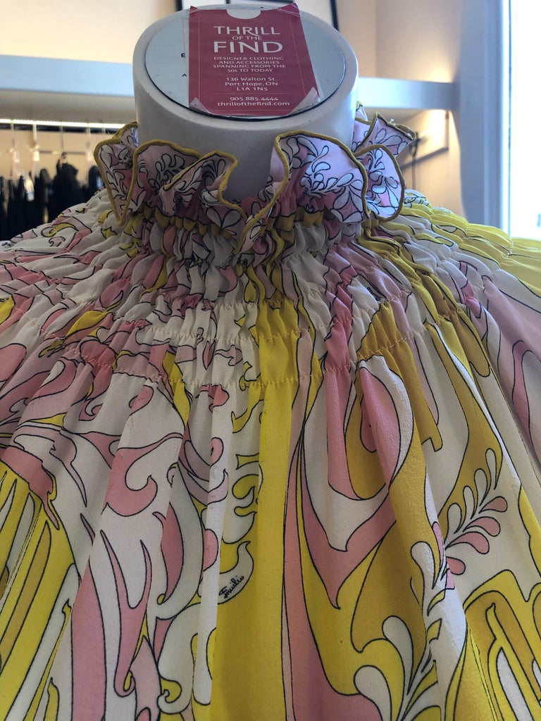 1970s Emilio Pucci Silk Chiffon Skirt, Top and Cummerbund For Sale 1