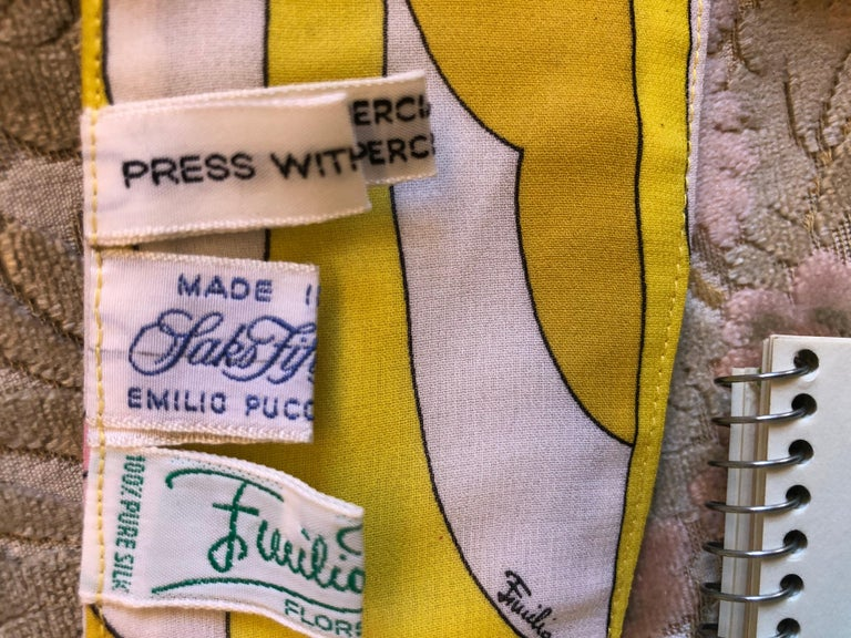 1970s Emilio Pucci Silk Chiffon Skirt, Top and Cummerbund For Sale 4