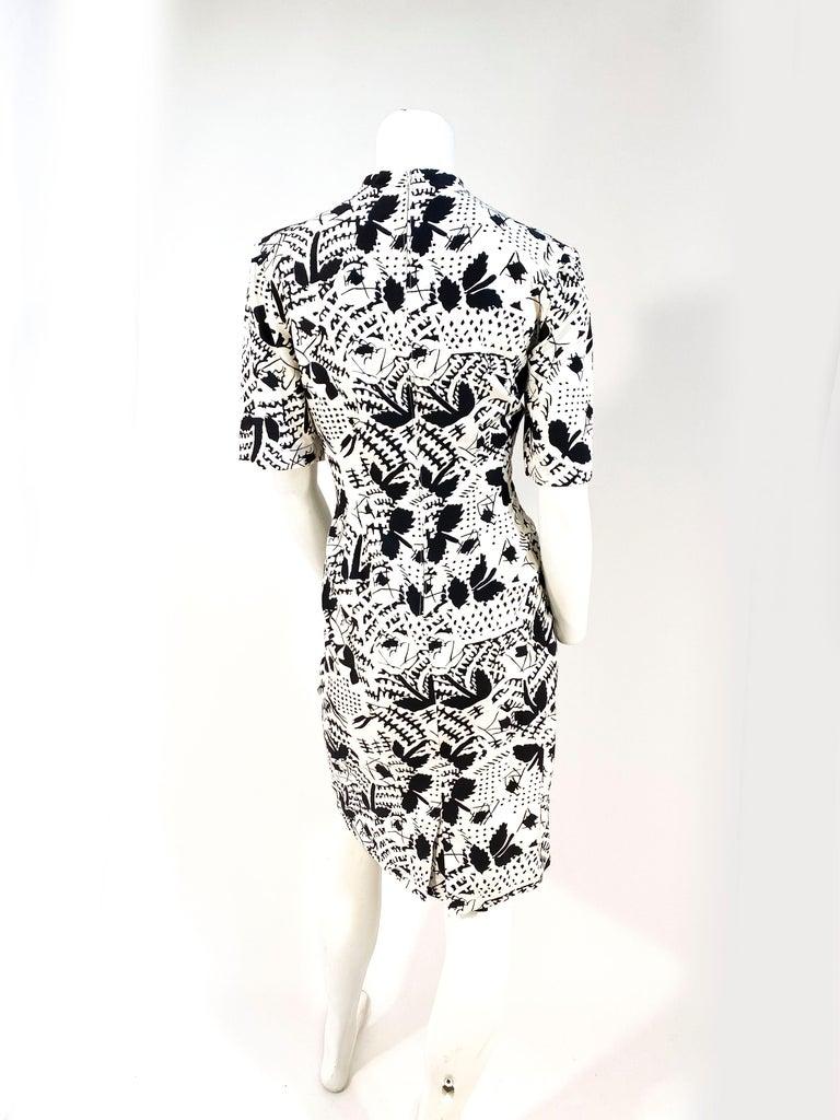 Women's 1970s Emmanuelle Khanh Silk Printed Dress For Sale