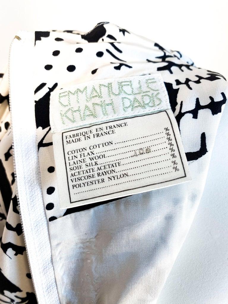 1970s Emmanuelle Khanh Silk Printed Dress For Sale 1