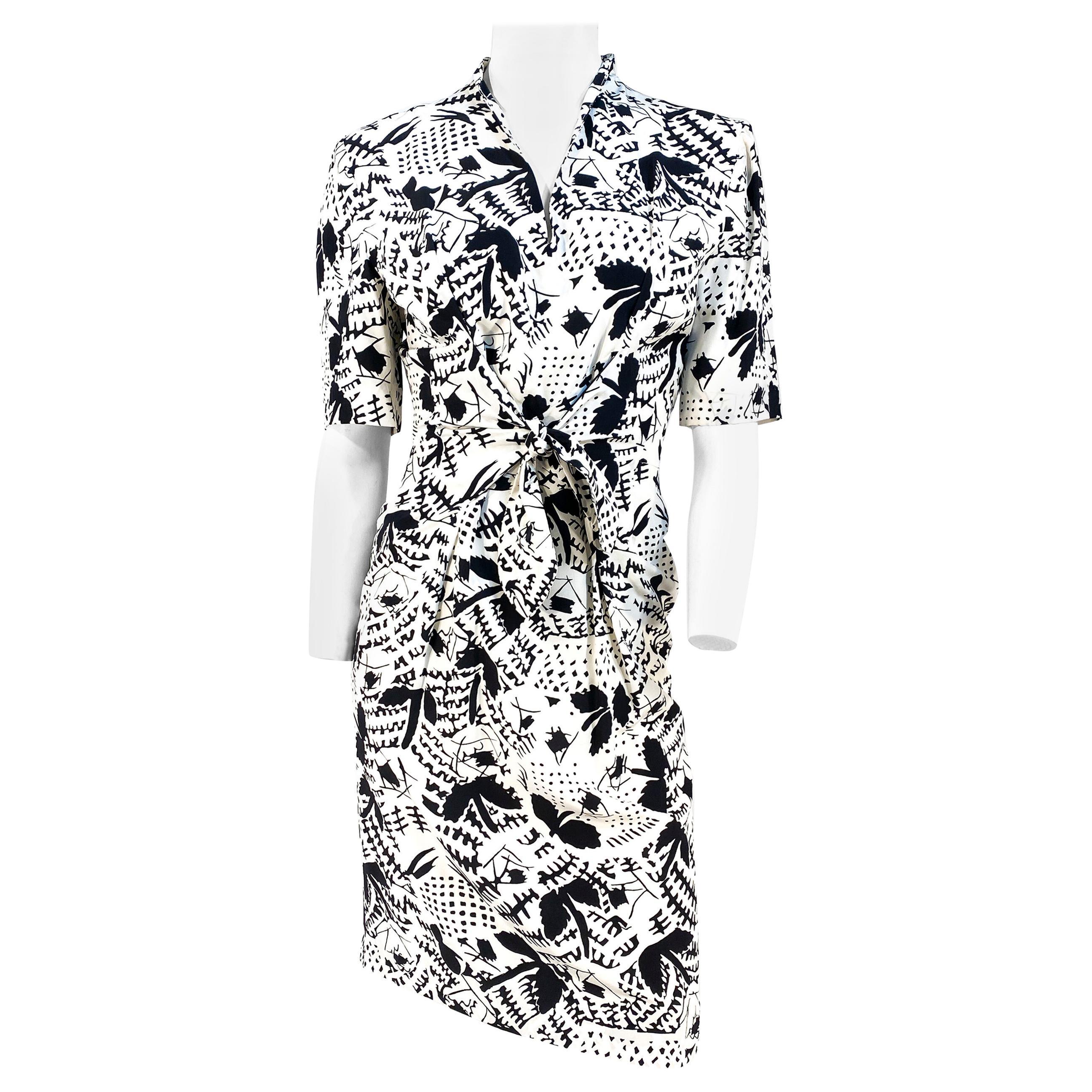 1970s Emmanuelle Khanh Silk Printed Dress
