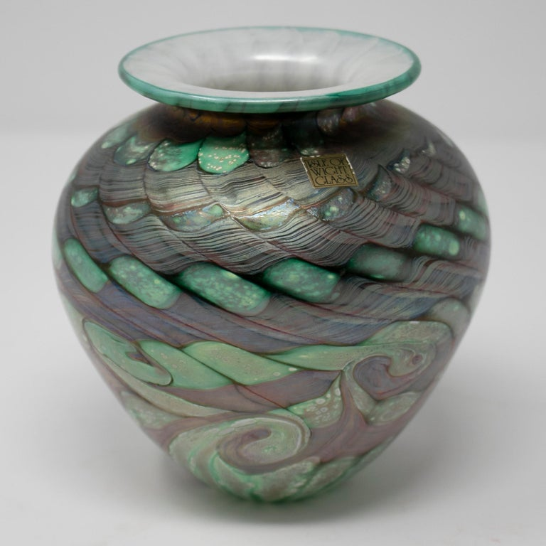 1970s English isle of Wight glass vase.