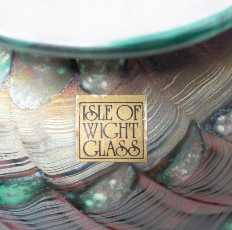 1970s English Isle of Wight Glass Vase For Sale 2