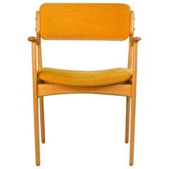1970s Erik Buch Fully Restored Danish Armchairs in Oak, Inc. Reupholstery