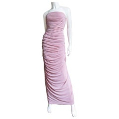1970s Estevez New Strapless Column Gown