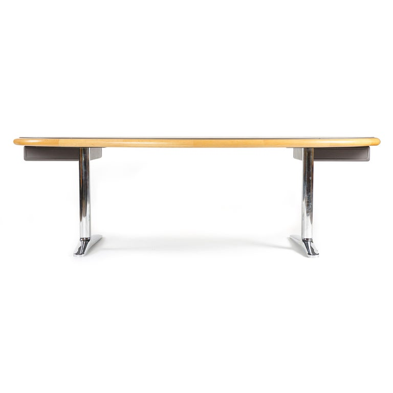Late 20th Century 1970s Executive Office Desk by Warren Platner for Knoll For Sale
