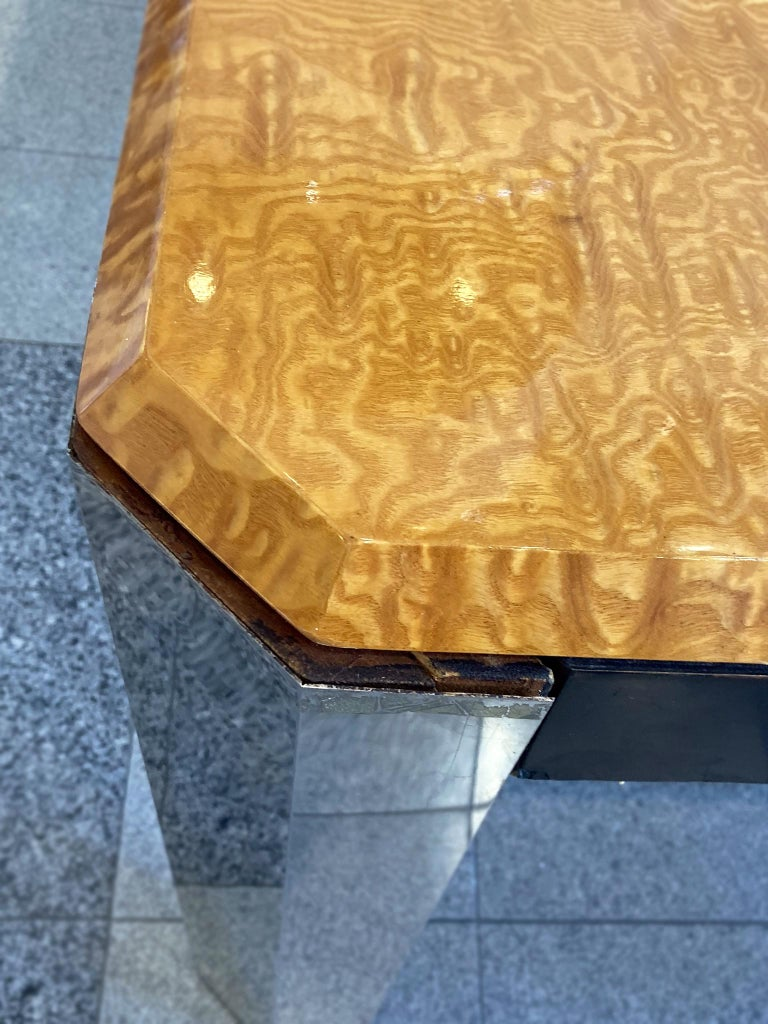 1970s Extendable Dining Table in the style of Milo Baughman For Sale 4