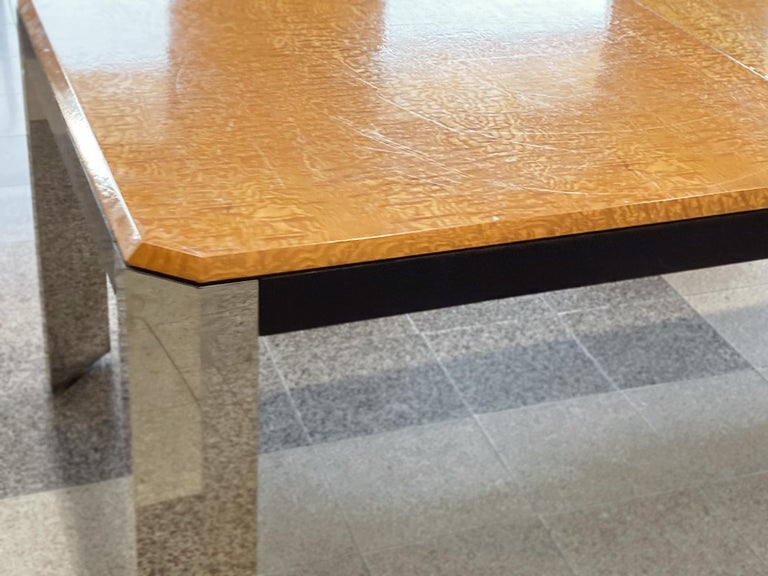 1970s Extendable Dining Table Attributed to Milo Baughman For Sale 6