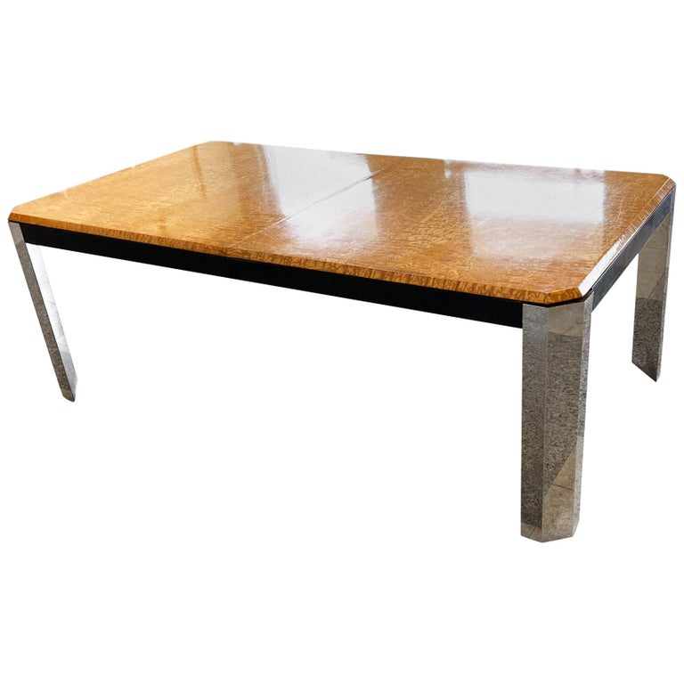1970s Extendable Dining Table in the style of Milo Baughman For Sale