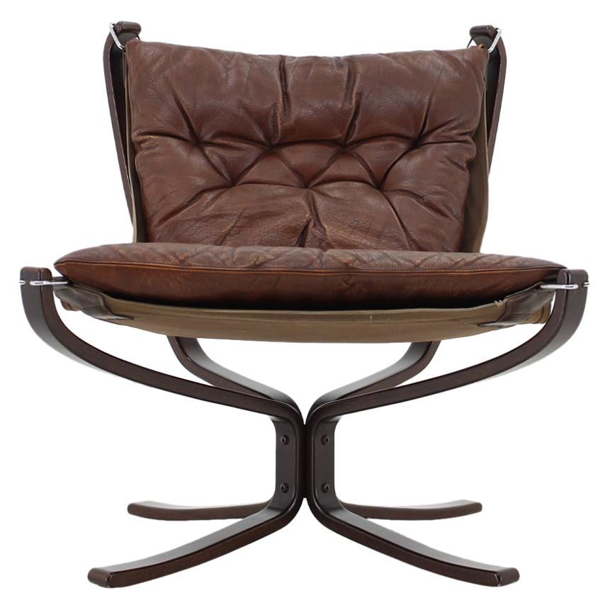 1970s Falcon Chair by Sigurd Ressell for Vatne Møbler