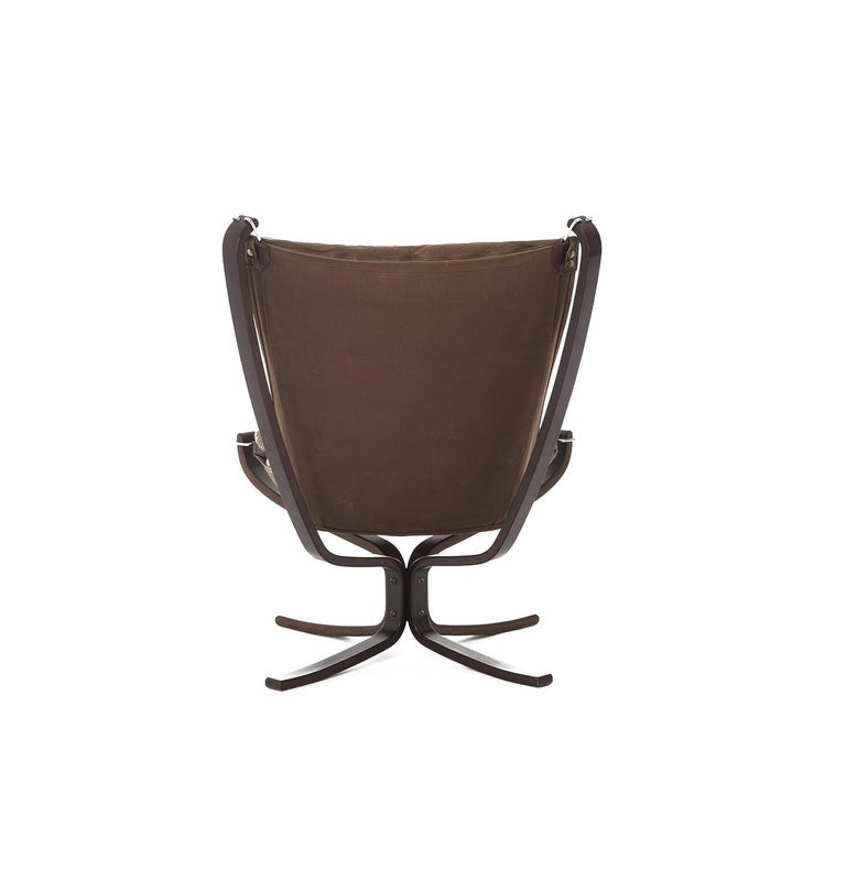 Dyed 1970s Falcon Chair by Sigurd Ressell for Vatne Mobler For Sale