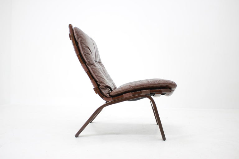Danish 1970s Farstrup Leather Lounge Chair, Denmark For Sale