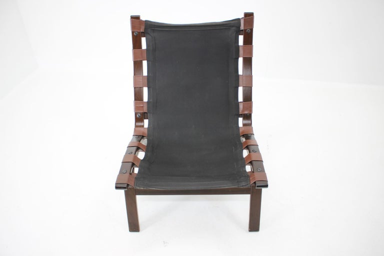 Late 20th Century 1970s Farstrup Leather Lounge Chair, Denmark For Sale