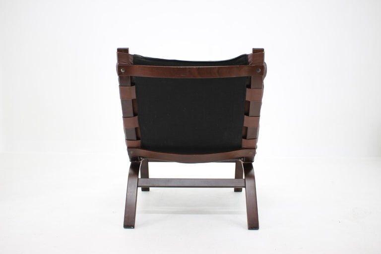 1970s Farstrup Leather Lounge Chair, Denmark For Sale 2