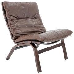 1970s Farstrup Leather Lounge Chair, Denmark