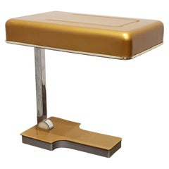 1970s Fase Madrid Foldable Desk Lamp in Gold and Chrome