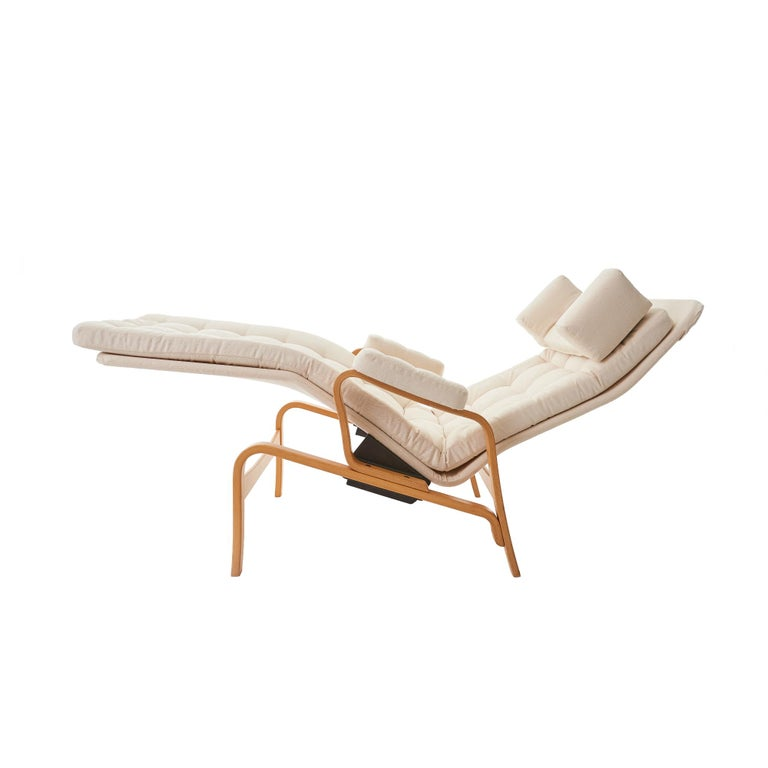 Mid-Century Modern 1970's 'Fenix' by Sam Larsson for DUX Reclining Bentwood Lounge Chair For Sale
