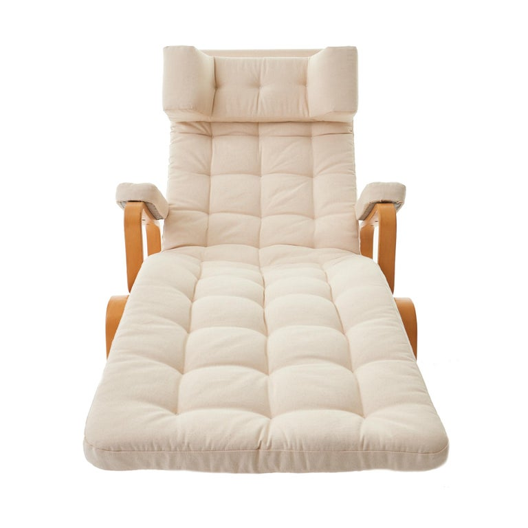 Swedish 1970's 'Fenix' by Sam Larsson for DUX Reclining Bentwood Lounge Chair For Sale