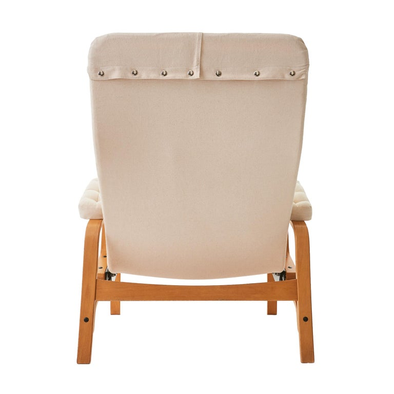1970's 'Fenix' by Sam Larsson for DUX Reclining Bentwood Lounge Chair In Good Condition For Sale In Chicago, IL
