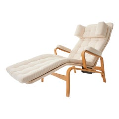 1970's 'Fenix' by Sam Larsson for DUX Reclining Bentwood Lounge Chair