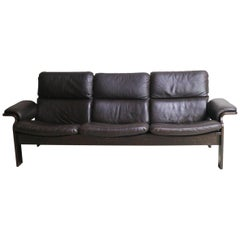 1970s Finnish Midcentury Leather 3-Seat Sofa by Jeki Mobler