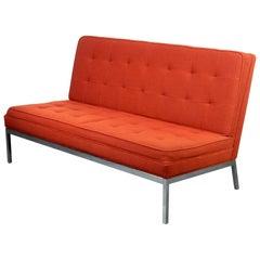 1970's Florence Knoll Armless Lounge Settee Sofa